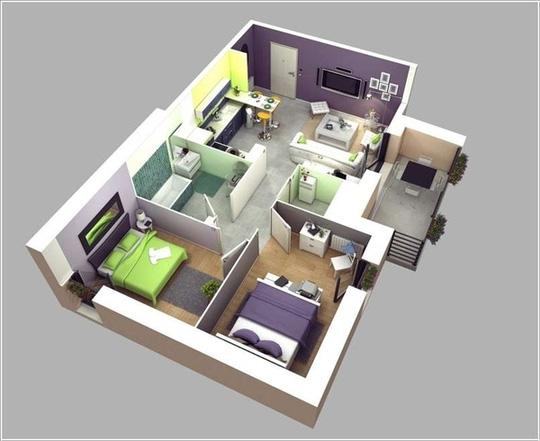Căn-hộ-thiết-kế-nhà-vệ-sinh-giữa-nhà