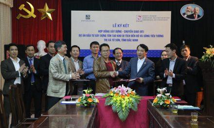 Hải Phat Group|Ký kết hợp đồng BT dự án tôn tạo di tích Đền Đô và Sông Tiêu Tương