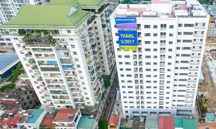 Tiến độ thi công Chung cư 282 Nguyễn Huy Tưởng đến ngày 22/5/2017